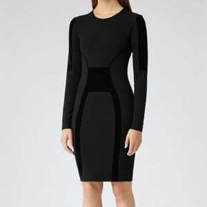 REISS Black velvet Tigre Dress